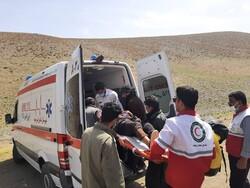 سقوط خودروی جیپ به درهای نزدیک روستای «واریش»/ ۵ نفر مصدوم شدند