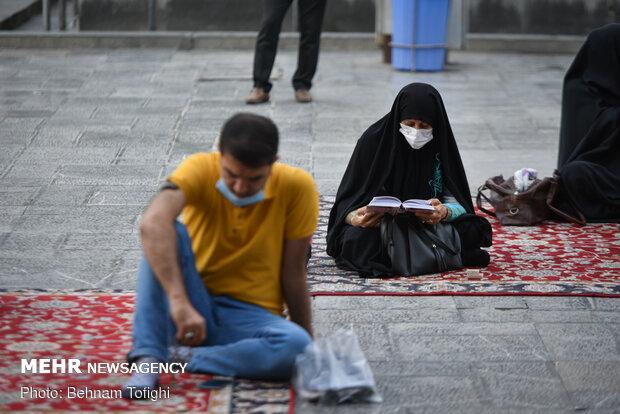 Tahran'daki Kur'an okuma merasiminden fotoğraflar
