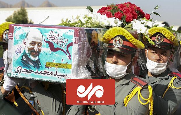 General Hicazi'nin cenaze namazı İsfahan'da kılındı