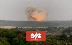 انفجار قوي جدا في مصنع أسلحة في الاراضي المحتلة