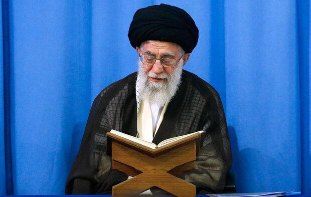 لحظات ممتعة لهمسات تلاوة القرآن من قبل قائد الثورة