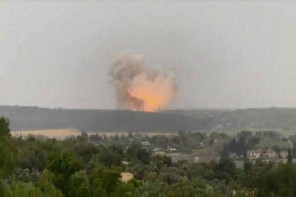 """مقطع يظهر الإنفجار الذي هزَّمصنع """"تومير"""" لصنع محركات الصواريخ في فلسطين المحتلة"""