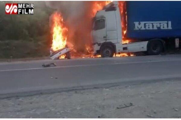تصادف مرگبار در محور سروآباد به مریوان