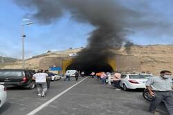 تشریح جزییات حریق و انسداد در تونل آزادراه تهران- پردیس