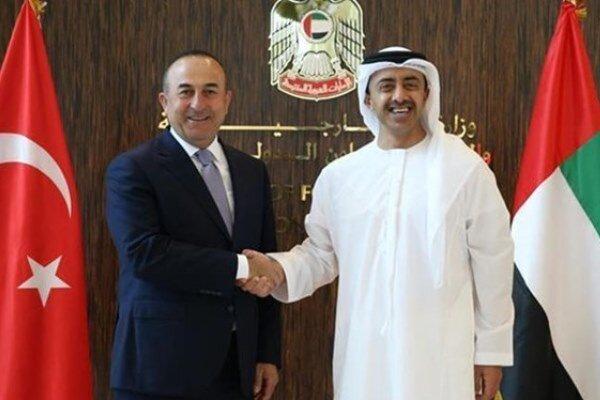 وزرای خارجه ترکیه و امارات تلفنی گفتگو کردند