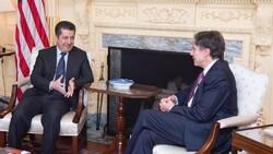 وزیر خارجه آمریکا و نخست وزیر اقلیم کردستان تلفنی گفتگو کردند