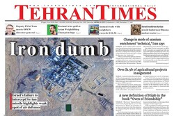 Front pages of Iran's English-language dailies on April 24