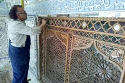 مرمت تزئینات چوبی امامزاده سلطان سیدمحمد