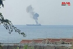 Syrian oil tanker damaged after being hit by suspected drone