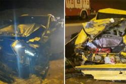 تصادف در زنجان ۴ مصدوم و ۲ فوتی بر جای گذاشت
