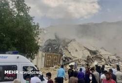 فیلمی از تخریب ۱۰۰ درصدی ۲ خانه در جهرم بر اثر انفجار