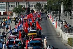 راهپیمایی اعتراضآمیز کوباییها علیه تحریمهای آمریکا