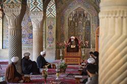 Recitation of Holy Quran in Nasir al-Mulk Mosque in Shiraz