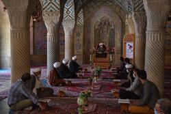 شیراز کی نصیر الملک مسجد میں محفل انس با قرآن