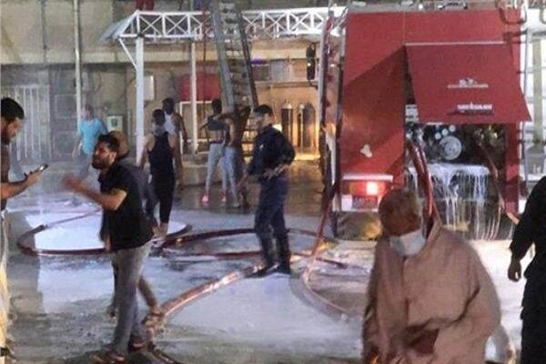 """الحريق المؤلم في مستشفى """"ابن الخطيب"""" ببغداد"""