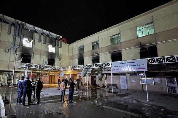 عراق میں اسپتال میں آگ لگنے سے ہلاکتوں کی تعداد 82 تک پہنچ گئی