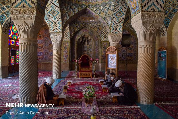 محفل انس با قرآن کریم در مسجد نصیرالملک شیراز