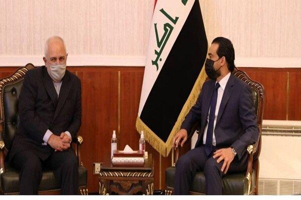 Zarif holds meeting with Iraqi parl. speaker