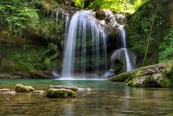 Breathtaking scenery of Tirkan 7 Waterfall in N Iran