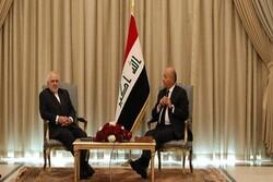 Iran welcoming Iraq's pivotal role in region: FM Zarif