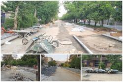 سنگفرش خیابان با هزینه های عجیب/ حمل مصالح با فرغون ۱.۷ میلیارد آب خورد