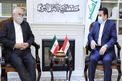 FM Zarif meets with Iraq's natl. security adviser al-Araji