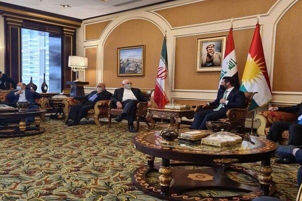 Senior officials of Iraqi Kurdistan recieve Zarif