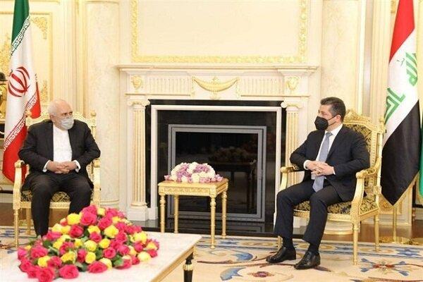 Zarif-Barzani stress not allowing anti-Iranian actions in KRG