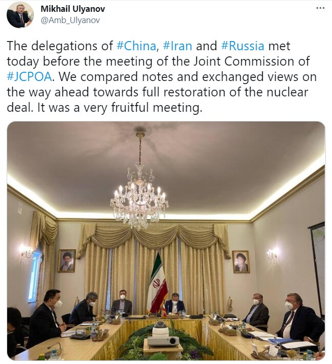 3751706 - دیدار هیأتهای چین، ایران و روسیه در وین بسیار مفید بود
