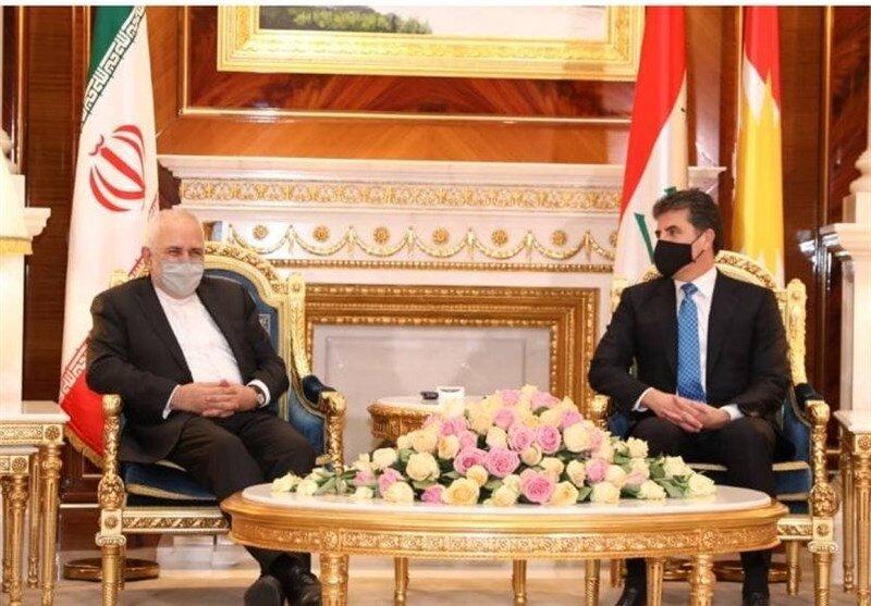 ظریف با رئیس اقلیم کردستان عراق دیدار کرد