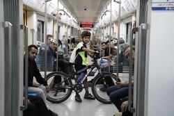بیش از ۲هزار دوچرخه سوار در سال ۹۹ با مترو تردد کردند