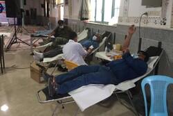 اهدای ۲۳ هزار و ۴۰۰ سی سی خون در «شهرپیر» زرین دشت