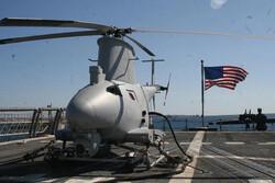 بالگرد نیروی دریایی آمریکا پس از سقوط به قعر دریا فرو رفت