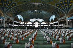 آیین اهدای ۲۰ هزار بسته معیشتی در سفره احسان ماه مبارک رمضان