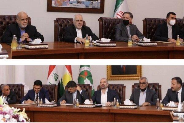 Zarif, Irak Kürdistan Yurtseverler Birliği'nden bir heyetle görüştü