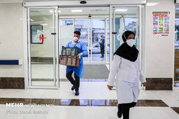 حال و هوای بیمارستان امیرالمومنین(ع)قم در روز میلاد امام حسن(ع)
