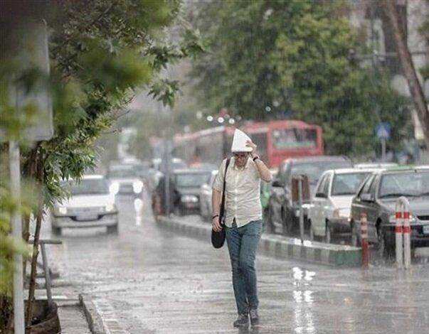 ادامه بارندگیهای پراکنده در نقاط مختلف کشور