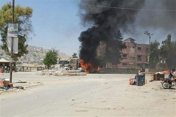استشهاد طفل وإصابة 14 مدنياً بانفجارين في مدينة جرابلس
