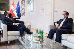 Araghchi meets with Austrian FM to discuss JCPOA