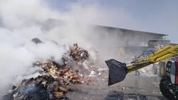 آتش سوزی گسترده در کارخانه بازیافت اصفهان