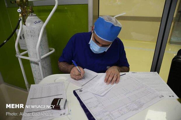 Lung transplant surgery at Masih Daneshvari Hospital