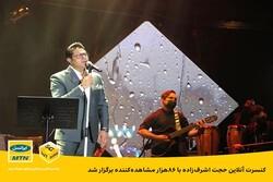 کنسرت آنلاین حجت اشرفزاده با ۸۶هزار مشاهده کننده برگزار شد