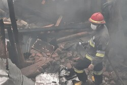 آتشسوزی در اهر؛ یک واحد مسکونی تخریب شد