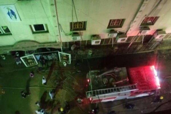 حريق هائل في كنيسة بالجيزة المصرية
