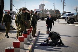 Israeli military forces shoot at a Palestinian woman in WB