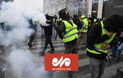 درگیری پلیس فرانسه و جلیقه زردها