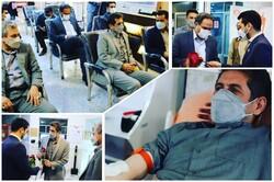 اهدا خون جمعی از معلمان کرمانشاهی در روز ۱۹ ماه رمضان