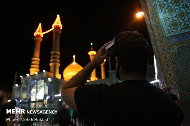 مراسم احیای شب نوزدهم ماه مبارک رمضان در حرم حضرت معصومه