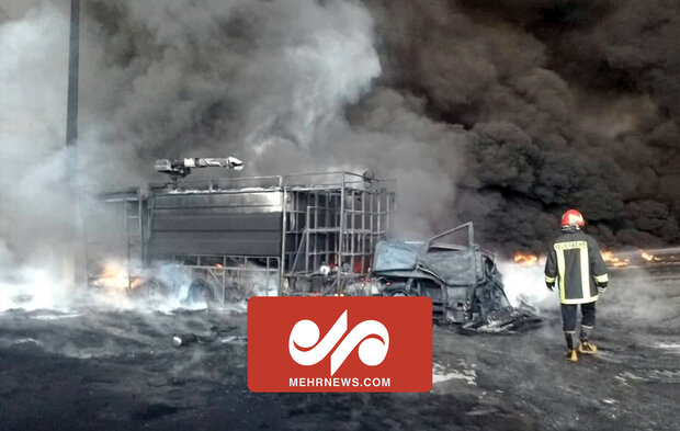 VIDEO: Fire breaks out at industrial city in Qom