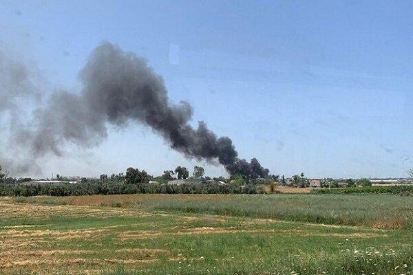 Huge fire breaks out near Israeli regime's airport